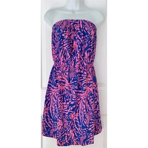 Lilly Pulitzer Strapless Zebra Print Windsor Dress